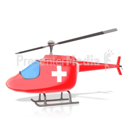 Medical Helicopter Presentation clipart