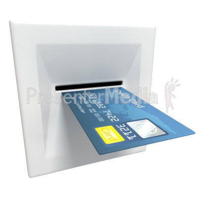 Insert Credit Card Atm Machine Presentation clipart