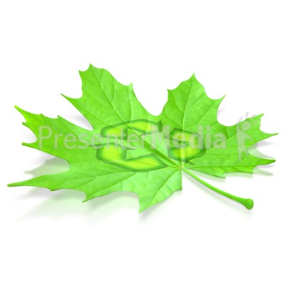 Leaf Recycle Symbol Presentation clipart