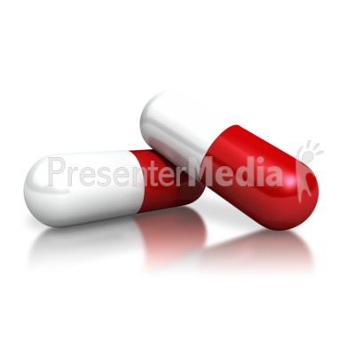 two red white capsules medical and health great clipart for