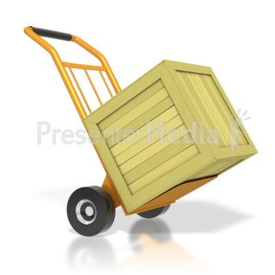 Warehouse Dolly With Crate Presentation clipart