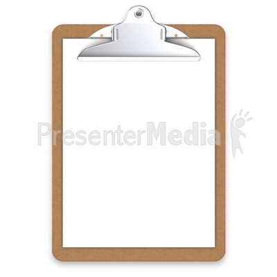 Office Clipboard Blank Presentation clipart