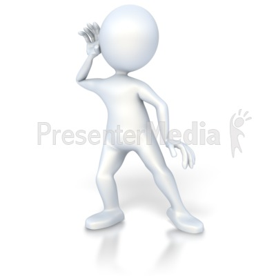 Stick Figure Listen Presentation clipart