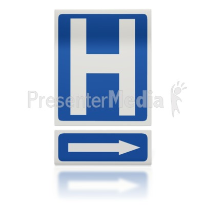 Hospital Arrow Sign  Presentation clipart