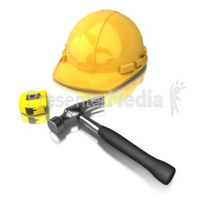 Construction Worker Tools Presentation clipart