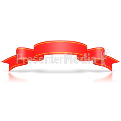 Large Red Flag Banner Presentation clipart