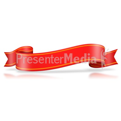 Red Flag Wavy Banner Presentation clipart