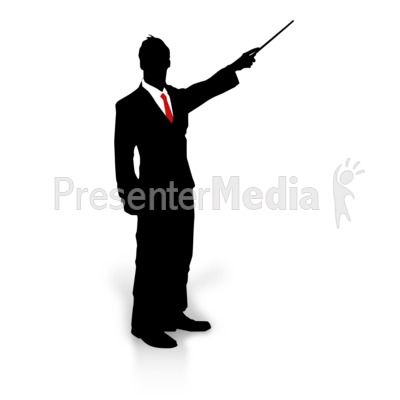 Businessman Silhouette Point Presentation clipart