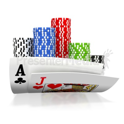 All In Black Jack Gamble Presentation clipart