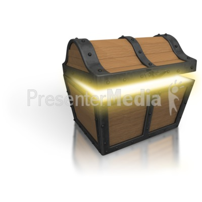 Treasure Chest Open Glow Presentation clipart