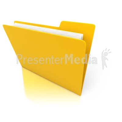 Single Yellow Folder with Paper Presentation clipart