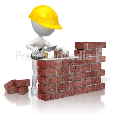 Brick Wall Construction  Presentation clipart