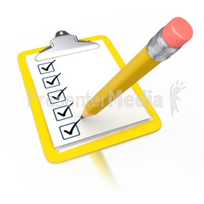 Pencil Draw Checkmark Yellow Clipboard Presentation clipart