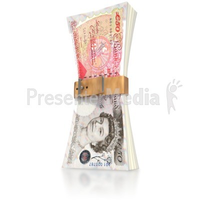 Pound Money Squeeze  Presentation clipart