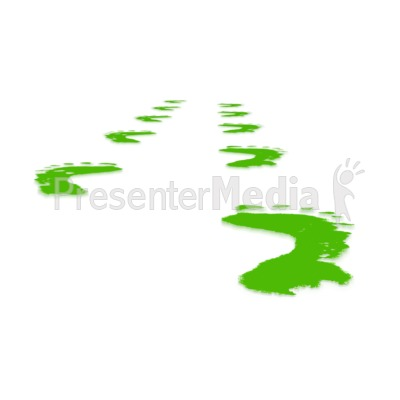 Green Perspective Footprints Presentation clipart