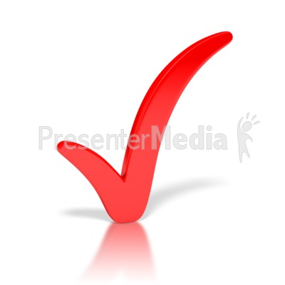Check Mark Red Presentation clipart