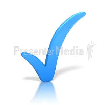 Check Mark Blue Presentation clipart