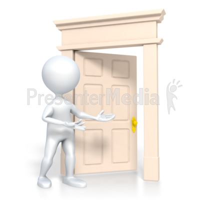 Stick Figure Come In Presentation clipart
