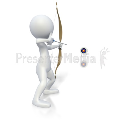 Stick Figure Archery Long Shot  Presentation clipart