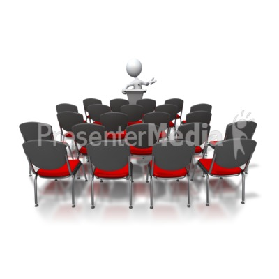 Stick Figure Speaking To Nobody Presentation clipart