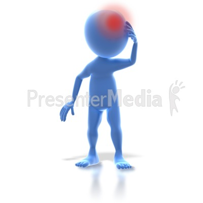 3D Stick Figure Headache Pain Presentation clipart