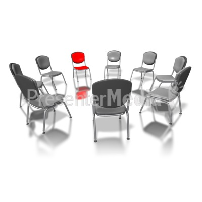 Red Chair In Circle Presentation clipart