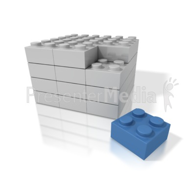 Building Blocks Stack Presentation clipart