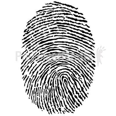 Black Fingerprint Presentation clipart