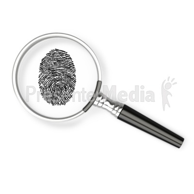 Magnifying Glass Fingerprint Presentation clipart