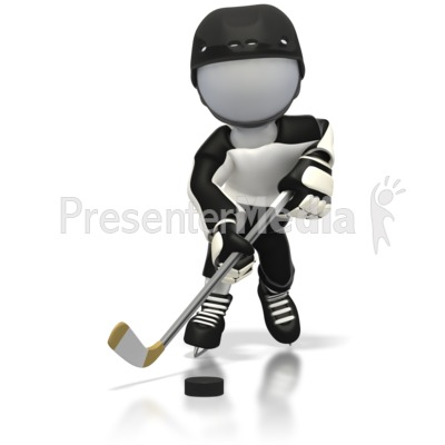 Hockey Fast Break Away  Presentation clipart
