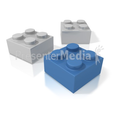 Three Building Blocks Presentation clipart