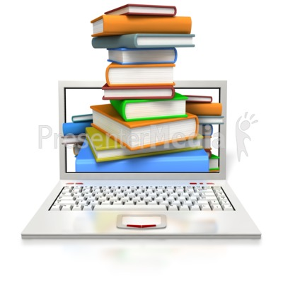 Educational Laptop Presentation clipart