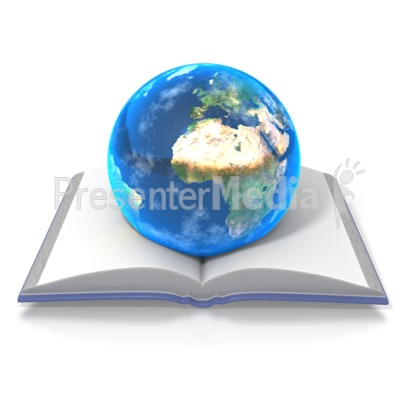 Knowledge Opens the World Presentation clipart