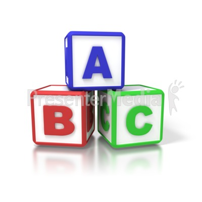 abc blocks signs and symbols great clipart for presentations