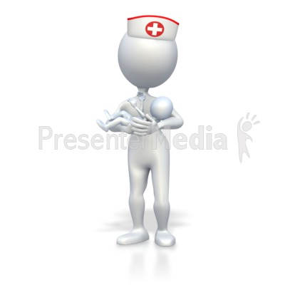 Nurse With Baby  Presentation clipart