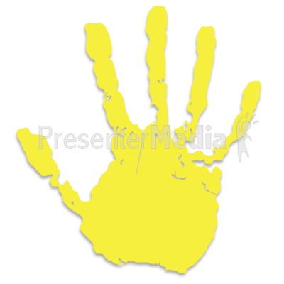Single Yellow Hand Print Presentation clipart