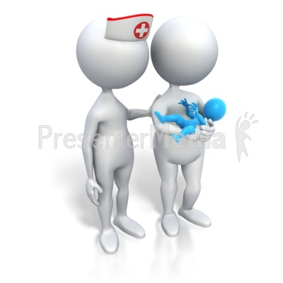 Mom And Nurse Its A Boy Presentation clipart
