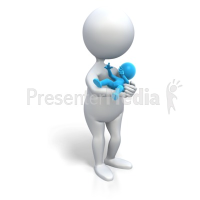 Mom Holding Baby Boy Presentation clipart