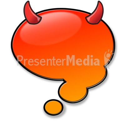 Devil Think Bubble Presentation clipart
