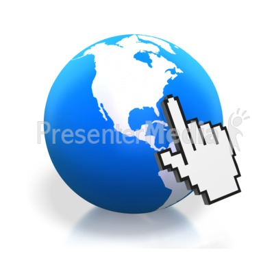 Earth Digital Hand Pointing North Americ Presentation clipart