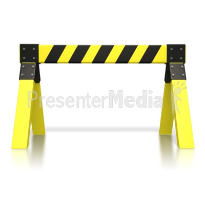 Caution Saw Horse  Presentation clipart