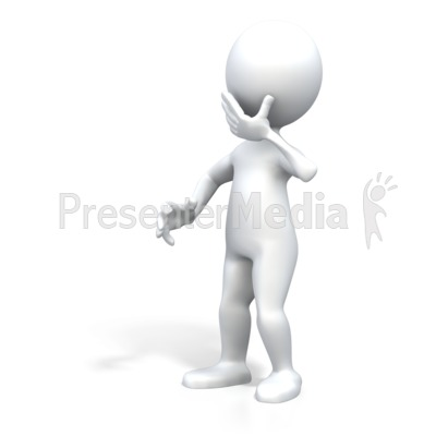Stick Figure Surprised Pose Presentation clipart