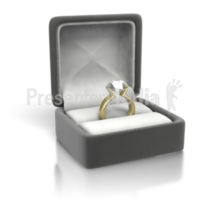 Diamond Ring Yellow Gold Presentation clipart