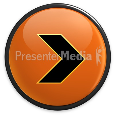 Arrow Orange Right Button Presentation clipart