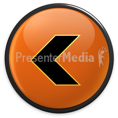 Arrow Orange Left Button Presentation clipart