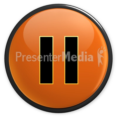 Arrow Orange Pause Button Presentation clipart