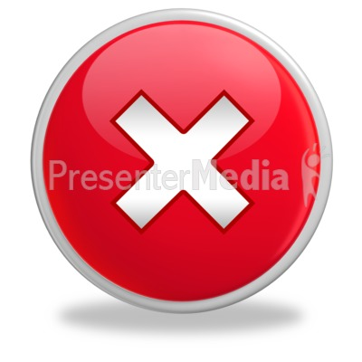 Red Spot X Button Presentation clipart