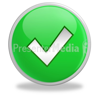 Green Check Mark Button Presentation clipart