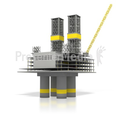Off Shore Oil Rig  Presentation clipart