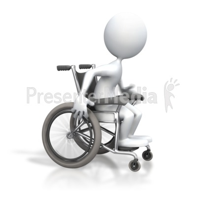 Stick Figure Racing Wheelchair Presentation clipart